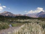 Mendoza Province, Uspallata, Andes Mountains and Rio Mendoza River, Argentina Photographic Print by Walter Bibikow
