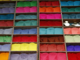 Coloured Powder for Sale at Market, Kathmandu, Nepal, Asia Photographic Print by Godong