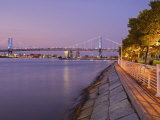 Camden Waterfront and Ben Franklin Bridge, City of Camden, New Jersey Photographic Print by Richard Cummins