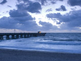 Florida, Pompano Beach, Fishing Pier, Atlantic Ocean, USA Photographic Print by John Coletti