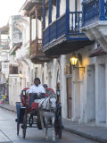 Carriage Through the Ciudad Amurallada, Cartagena, Colombia Photographic Print by Ethel Davies