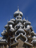 Karelia, Lake Onega, Kizhi Island, Roof of the Church of the Transfiguration, Russia Photographic Print by Nick Laing