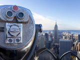 New York City, Coin Operated Binoculars and Empire State Building from Rockerfeller Centre Photographic Print by Gavin Hellier