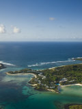 Southern Mauritius, Aerial View of Blue Bay Hotel Area, Mauritius Photographic Print by Walter Bibikow