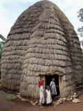 Dorze People Living in Highlands West of Abyssinian Rift Valley, Ethiopia Photographic Print by Nigel Pavitt