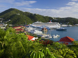 Us Virgin Islands, St, Thomas, Charlotte Amalie and Havensight Cruise Ship Dock, Caribbean Photographie par Gavin Hellier