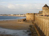 Saint-Malo City Wall, St. Malo, Ille-Et-Vilaine, Brittany, France, Europe Photographic Print by  Godong