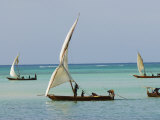 East Africa, Tanzania, Zanzibar, A Traditional Dhow, India, and East Africa Fotografisk tryk af Paul Harris