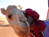 Tuareg and Dromedary, Sebha, Ubari, Libya, North Africa, Africa Photographic Print by Godong