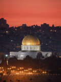 Dome of the Rock Mosque, Dusk, Jerusalem, Israel Photographic Print by Michele Falzone