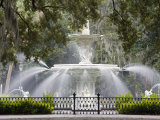 Fountain, Forsyth Park, Savannah, Georgia, United States of America, North America Photographic Print by Richard Cummins
