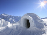Igloo, Alps, Italy, Europe Photographic Print by Vincenzo Lombardo