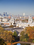 London, Greenwich, National Maritime Musuem, the City in Distance, England Photographic Print by Jane Sweeney