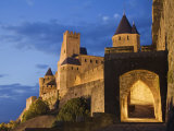 La Cite, Carcassonne, Porte D'Aude Entrance to the Medieval Walled City, Languedoc Photographic Print by Guy Edwardes