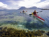 Nordland, Helgeland, Sea Kayakers Explore Calm Coastal Waters of Southern Nordland, Norway Photographic Print by Mark Hannaford