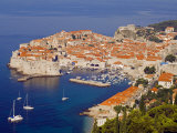 Unesco World Heritage Old Town Harbour, Dubrovnik, Croatia Fotografisk trykk av Christian Kober