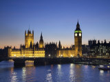 Big Ben and Houses of Parliament, London, England Fotografisk tryk af Jon Arnold