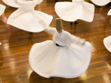 Whirling Dervishes, Istanbul, Turkey Fotografie-Druck von Peter Adams