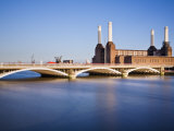 Battersea Power Station across the River Thames, London, England, United Kingdom, Europe Photographic Print by Guy Edwardes