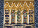 Ornate Architectural Detail Above the Entrance to the Royal Palace, Fez, Morocco, North Africa Photographic Print by John Woodworth
