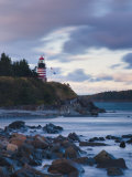 Maine, Lubec, West Quoddy Lighthouse, USA Photographic Print by Alan Copson