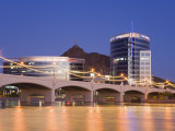 Town Lake and Mill Avenue Bridge, Tempe, Greater Phoenix Area, Arizona Photographic Print by Richard Cummins