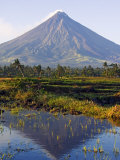 Luzon Island, Bicol Province, Mount Mayon, Near Perfect Volcano Cone, Philippines Photographic Print by Christian Kober