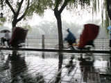 Beijing, Beijing Hutong in the Rain, China Photographic Print by David Bank