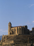 Church of the Hilltop Village of San Vicente Rises High Above the Ebro Valley Photographic Print by John Warburton-lee