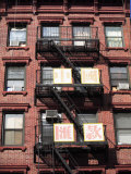 Classic Old Tenement Building with Fire Escapetown, Manhattan, New York City Photographic Print by Wendy Connett
