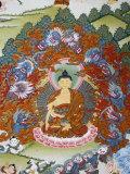 Thangka Painting of the Buddha Sakyamuni Surrounded by Temptation, Bhaktapur, Nepal, Asia Photographic Print by  Godong