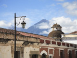 Volcano, Vulcan Agua and Colonial Architecture, Antigua, Guatemala Photographic Print by Wendy Connett