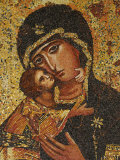 Mosaic of Greek Virgin, Annunciation Basilica, Nazareth, Galilee, Israel, Middle East Photographic Print by Godong 