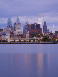 Philadelphia Skyline and Delaware River, Philadelphia, Pennsylvania Photographic Print by Richard Cummins