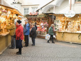 Shoppers at Christmas Stalls of Stern Advent Markt Market, Salzburg, Austria, Europe Photographic Print by Richard Nebesky