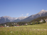 Alps and Gurgl Valley in Summer, Tarrenz, Tyrol, Austria, Europe Photographic Print by Pearl Bucknall