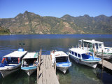 Boat Dock, San Pedro, San Pedro La Laguna, Lake Atitlan, Guatemala, Central America Photographic Print by Wendy Connett