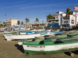 Fishing Boats on Playa Norte, Mazatlan, Sinaloa State, Mexico, North America Lámina fotográfica por Cummins, Richard