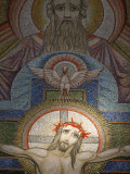 Mosaic by Antoine Molkenboer Showing God, the Holy Spirit and Jesus, Annecy, Haute Savoie Photographic Print by  Godong