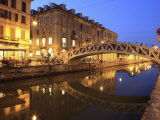 Naviglio Grande at Dusk, Milan, Lombardy, Italy, Europe Photographic Print by Vincenzo Lombardo