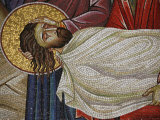 Mosaic of Christ's Death at the Church of the Holy Sepulchre, Jerusalem, Israel, Middle East Photographic Print by  Godong