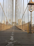 Early Morning on Brooklyn Bridge Photographic Print by Amanda Hall