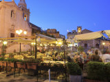 People in a Restaurant, Taormina, Sicily, Italy, Europe Photographic Print by Vincenzo Lombardo