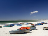 Beach and Fishing Boats, Paternoster, Western Cape, South Africa, Africa Photographic Print by Peter Groenendijk