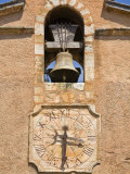Close-Up Detail Showing Church Bell and Clock in Town Centre, Roussillon, Provence Photographic Print by Guy Edwardes