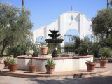 Courtyard, San Xavier Del Bac Mission, Tucson, Arizona, United States of America, North America Photographic Print by Wendy Connett