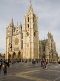 Exterior from the Southwest of the Cathedral, Leon, Castilla Y Leon, Spain, Europe Photographic Print by Nick Servian