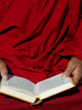Tibetan Monk Reading, Paris, France, Europe Photographic Print by Godong