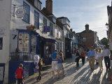 Steep Cobbled Street in Lymington, Hampsire, England, United Kingdom, Europe Photographic Print by Hazel Stuart