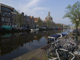 Canal View Looking Towards Mare Church, Leiden, Netherlands, Europe Photographic Print by Ethel Davies